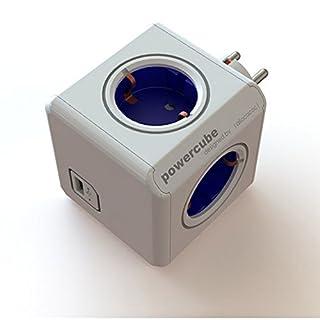allocacoc PowerCube Original USB - Ladrón multiple con 4 enchufes 230 V y un puerto USB, en forma de cubo, (color blanco y azul) (B0083E2X28) | Amazon price tracker / tracking, Amazon price history charts, Amazon price watches, Amazon price drop alerts