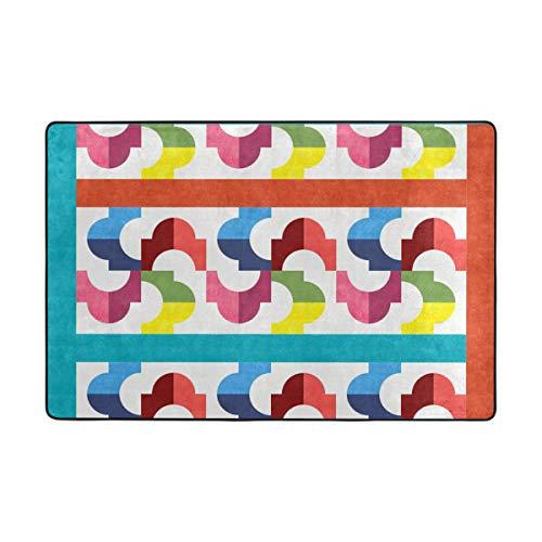 MALPLENA Whirly Swirly Quilt-Teppiche für Wohnzimmer, Fußmatte, Fußmatte, Schuhe, Schaber für Wohnzimmer, Esszimmer, Schlafzimmer, Küche, Rutschfest, Polyester, 1, 36 x 24 inch -