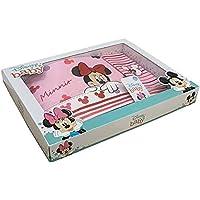 3 Pz - Set Lenzuola Carrozzina Neonato Disney Baby 100% Cotone | Corredino Nascita Completo Lenzuola Culla Neonato con…