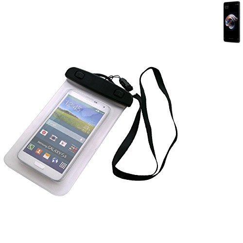 Price comparison product image K-S-Trade Universal Beach Bag/Waterproof raincover/Snow Case for Xiaomi Redmi Note 5 Pro, Transparent protection against dust, sand, rain Protector for Hiking Outdoor swimming