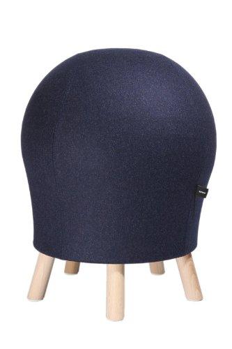 Topstar Hocker Sitness 5 Alpine dunkelblau in edler Filzoptik - Stuhl mit Sitzball-Effekt