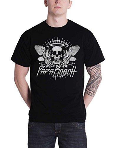 Cobra-logo-t-shirt (Papa Roach Cobra Skull offiziell Herren Nue Schwarz T Shirt)