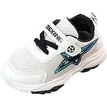 ZODOF Lindos Zapatos para niños Bebé Fútbol Star Print Sport Sneaker Running Mesh Zapatos Casuales