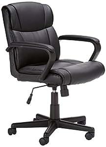AmazonBasics Mid Back Office Chair (Black)