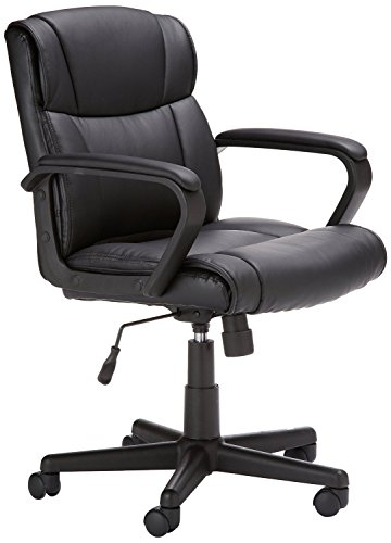 AmazonBasics Mid Back Office Chair (Black)