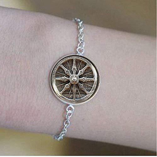 Dharma Rad Armband Buddhismus Armband Schmuck Heilige Geometrie Meditation Armband