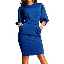 Vestidos mujer vestido de oficina - Hibote vestidos ajustados con cuello O Vestido de fiesta informal sexy elegante