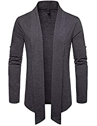 BUSIM Men's Long Sleeved Shirt Casual Solid Color Lapel Cardigan Autumn Winter Sturdy Fashion Slim British Gentleman...