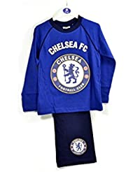 Chelsea FC Niños Niños largo pijama de la ropa de noche Noche León insignia de la cresta azul 11 - 12 Años Oficial