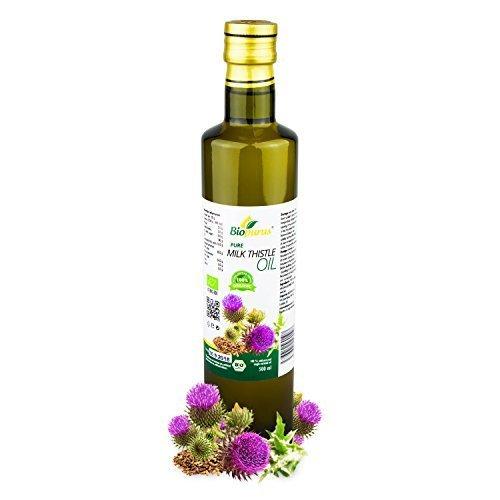 zertifiziertes Bio kaltgepresst Mariendiestel Samenöl 500ml biopurus (Ton Leber)