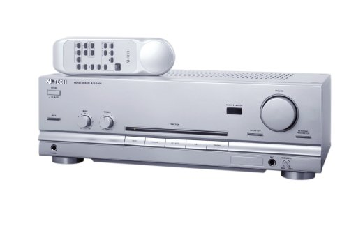 X4-Tech A-1000 HiFi-Vollverstärker für 6 HiFi-Geräte (2x 50 Watt) silber