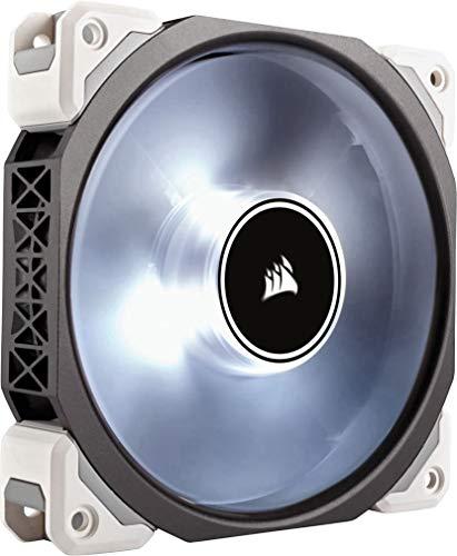 Corsair ML120 Pro LED PC-Gehäuselüfter (120mm, mit Premium Magnetschwebetechnik, weiss LED, Single Pack) schwarz/weiß -