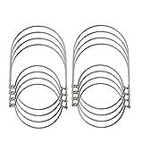 Prokth Wire maniglie per Mason, maniglie 8PCS filo per muratore luce solare Mason Jar Hanger gancio maniglia