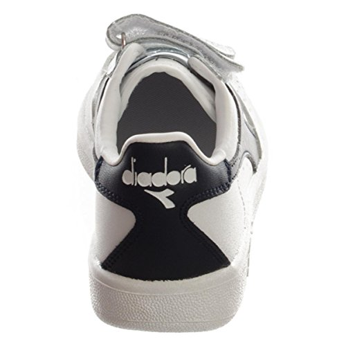 Diadora Unisex-Kinder B Elite Jr Sneaker Low Hals White/Blue Denim/Blue Den