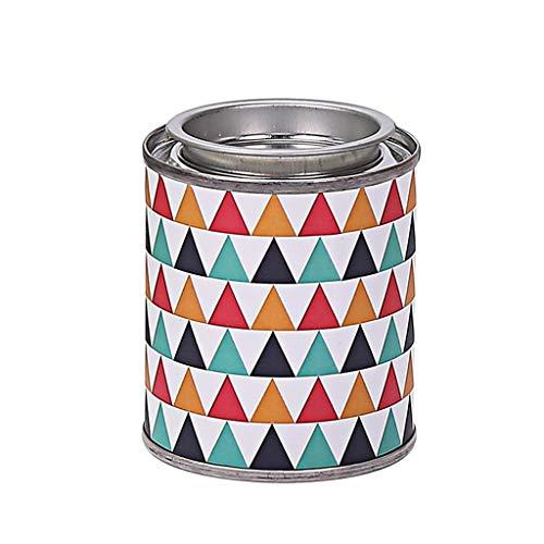 QAWSED Aromatherapie Kerze Geometrisches Muster Eisen Box 3 Sätze Von Aromatherapie Dekorative Ornamente 85g Geruch Kann 18H Mit Deckel Brennen Kerze entspannen (Color : Water Kiss -3pcs) -