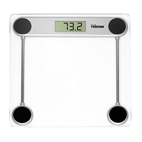 Tristar wg-2421-Bilancia da bagno, LCD, Argento, Trasparente, Plaza, CR2032,