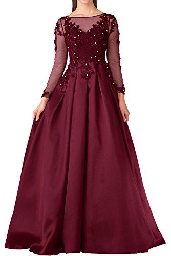 Victory Bridal - Robe - Trapèze - Femme rouge foncé