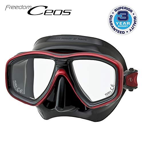 TUSA Tauchmaske M-212 Freedom Ceos - Schwarz Farbe Schwarz / Rot