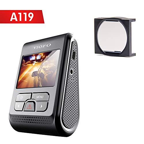 VIOFO A119 V2 Autokamera DashCam 2560x1440P 2K Super HD 160 Diskreter Weitwinkel mit GPS-Logger und CPL-Filter