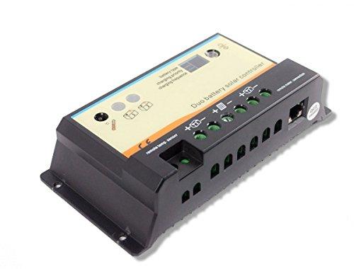 20A Laderegler-PWM 12V/24V - automatische Erkennung - LED - zwei Batterien -