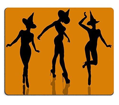 Jun XT Gaming Mousepad eine Schwarz Halloween Illustration Silhouette auf einer Orange Hintergrund Bild-ID 5229822 (Und Halloween-hintergrund Schwarze Orange)