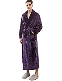 2187b4e0bc Mens Luxury Supersoft Boss Housecoat Fleece Bath Robe Dressing Gown Gents  Warm Winter Style Soft
