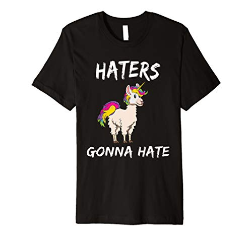 Haters Gonna Hate Llama Unicorn LGBT Shirt Rainbow Rainbow
