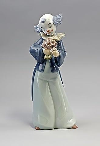Clown En Porcelaine - Porzellanfigur höflicher clown avec