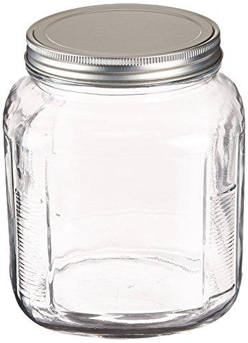 Anchor Hocking 2-Quart Cracker Jar with Brushed Aluminum Lid, Set of 4 by Anchor Hocking Cracker Jar-set