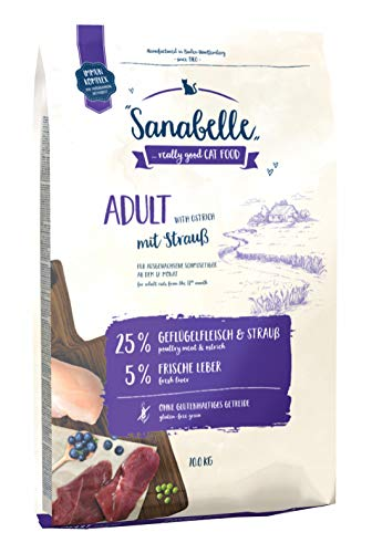 Sanabelle Adult mit Strauß | Katzentrockenfutter für ausgewachsene Katzen (ab dem 12. Monat), 1er Pack (1 x 10000 g)