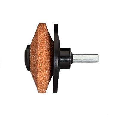 MULTI-SHARP 1301 Messerschärfer für Kreisel-Rasenmäher und Gartenwerkzeug; Spaten, Hacken, Rasenkantentrimmer, Äxte und andere
