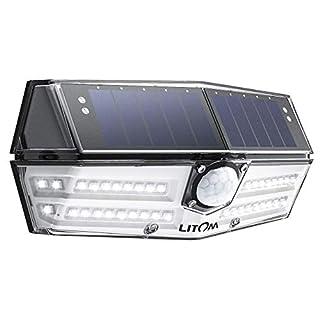 Mpow 40 LED Lampe Solaire Extérieur 3 Modes Intelligents Etanche IP66 Détecteur de Mouvement, 270° Grand Angle 1800 mAh Batterie, Eclairage Extérieur pour Maison, Jardin, Allée,Garage, Escaliers