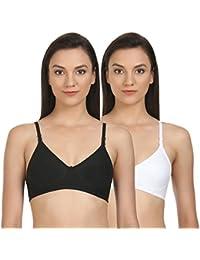 02e35e21a5584 BODYCARE Pack of 2 Perfect Coverage Bra in Black-White Color - E6525BW