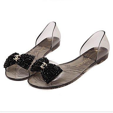 PU Flat Black molla flip pantofole flops bianco zhENfu arancione comfort informale Comfort nero Donna AMP; 4aRBw