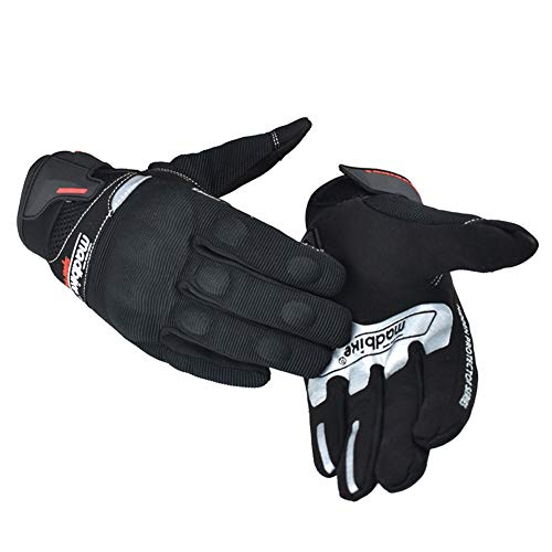 Guanti Estivi Full Finger Moto Guanti Tech Touch Guanti di Duro Knuckle per Militare tattico Airsoft Outdoor Sport Ciclismo Powersports Racing Guanti,Black,M