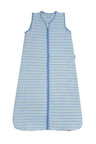 Schlummersack Kinderschlafsack Winter 3.5 Tog - Blaue Streifen - 3-6 Jahre/130 cm