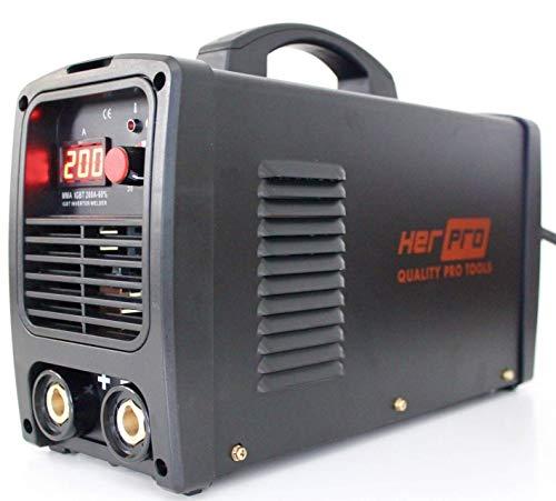 HerPRO Soldador Inverter Profesional IGBT de 200 Amperios 60% Factor de Marcha y 3 placas PCB para un Alto Rendimiento