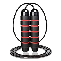Sportout Speed Skipping Rope,Adjustable Jump Rope with Foam Handles and Tangle-Free,Weighted Skipping Rope for Crossfit, Exercise, Workout