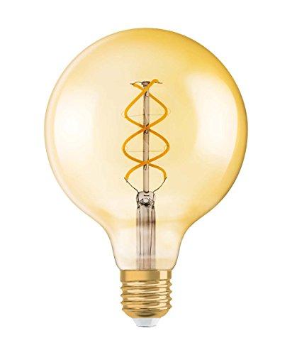 Osram LED Vintage 1906 Lampe, Sockel: E27, Warm White, 2000 K, 5 W, Ersatz für 25-W-Glühbirne