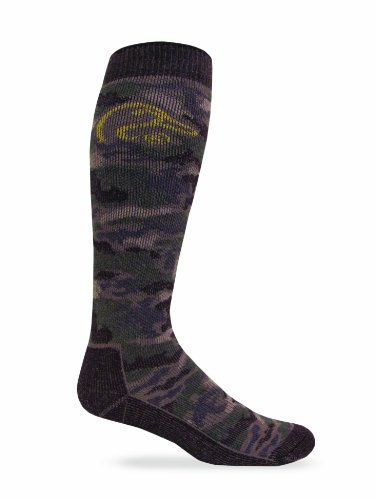 Ducks Unlimited Men's Tall Boot Socks (1-Pair), Camouflage, Large