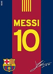Tapis enfant 95x133cm design Messi 10