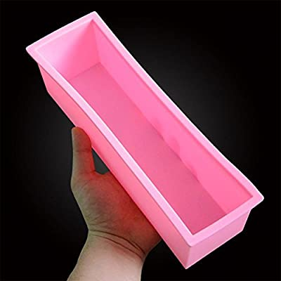 New 1.2L Rectangle Loaf Toast Bread Pastry Cake Soap Silicone Mold Pan Mould Tin