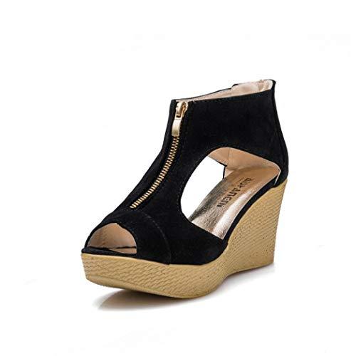 Frauen Keil High Heel Sandalen Peep Toe Zipper Plattform Casual Office Party Sandale Sparkle Club Kleid