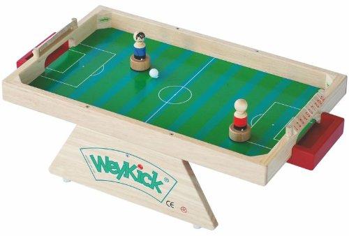 Weykick Piccolo 7200G / Magnetfußball für 2 SpielerInnen / Holz / Spielfläche: 53,5 x 33,5 cm / 2 Fußballspieler mit Führungsmagneten