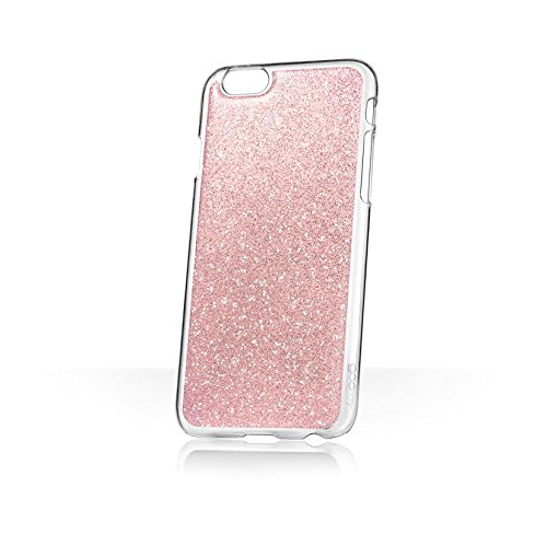 Phoebe Lettice x goo.ey - selbsthaftendes Case für Apple iPhone 6 / 6S – (Glitzer Gold) Glitzer Rosa