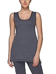 Vimal Premium Cotton Blended Navy Blue Thermal Sleeveless Top For Women