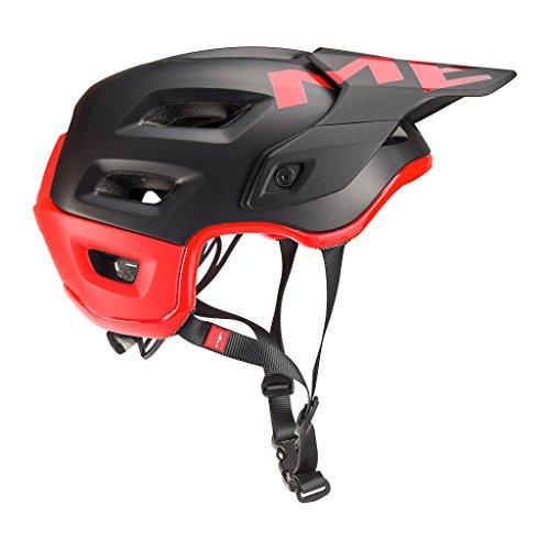 MET Fahrradhelm m3hm115m0rn1, M, schwarz–rot, Unisex