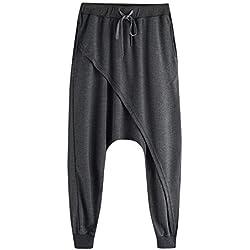 ZIXINGA Hombre Mujer Pantalones Harem Unisex, Bombachos livianos, Hippies, algodón, Casual, Boho