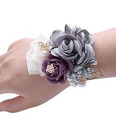 Idea Regalo - Haushele OFD matrimonio polso fiore sposa damigella d'onore sorella gruppo polso fiore spilla sposa coreana fiore artificiale polso fiore