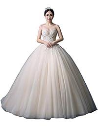 Vestido de Novia Sen Vestido de Novia Simple Vestido de Novia con Tapa de Tubo Vestido